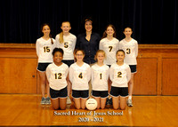 Sacred Heart Volleyball - Team 3 - 5x7 with litho