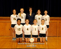 Sacred Heart Volleyball - Team 3 - 8x10 with litho